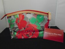NWT Authentic DOONEY & BOURKE Clear Transparent Rose Garden Cosmetic Case Bag