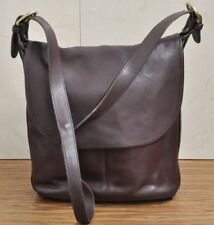 Vintage Coach 4115 Brown Leather Cross-Body Bag