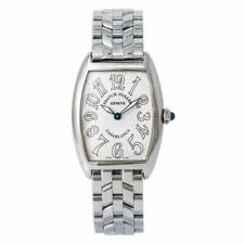 Franck Muller Curvex Casablanca 1752QZ Lady Quartz Watch SS White Dial 25MM