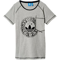 66c5f634 adidas Originals New Tee Damen-Shirt Top Oberteil Kurzarm 1972 Brusttasche  Grau