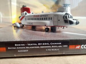 Corgi Aviation AA34207 Boeing-Vertol Chinook, British Airways, Aberdeen,  1/72