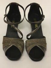 "Topline OPHELIA Latin / Ballroom Shoes - Gun Metal/Sparkle - 2.5"" Heel - Size 8"