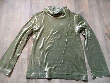 TOFF TOGS schönes Shirt Pannesamt hellgrün Gr. 116 w. NEU ST817