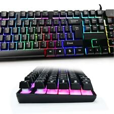 Backlit Mechanical Feel LED Backlight 104 Key Gaming Keyboard Wired PC