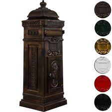 Aluminium Standbriefkasten rostfrei Postkasten Briefkasten antik Bronze