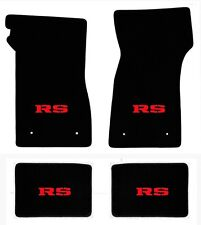 NEW! 1967-1969 Camaro Floor Mats Black Carpet Embroidered Red RS Logo on all 4