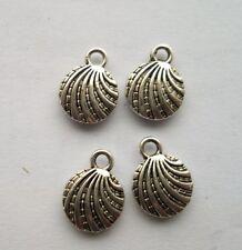 25 pcs Tibetan silver conch charm pendant 13x10 mm