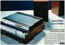 E- Publicité Advertising 1968 (2 pages) La Chaine Hi-Fi Ampli Tuner Philips