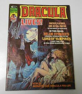 1974 DRACULA LIVES !  v.2 #1 VF- Gene Colan PABLO MARCOS