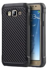BLACK CARBON FIBER RUGGED TPU HARD CASE COVER FOR SAMSUNG GALAXY ON5 G550T