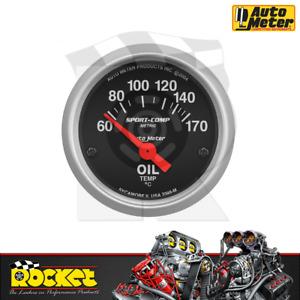 Auto Meter Sport-Comp 2-1/16 Oil Temp Gauge 60-170°C - AU3348-M