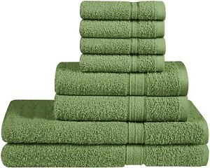 Luxurious 8 Piece Towel Set includes Bath Towel Hand Towel Washcloth 400 GSM