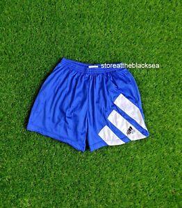 VINTAGE ADIDAS EQUIPMENT 1990'S FOOTBALL SHORTS SOCCER BLUE MEN 44 RARE