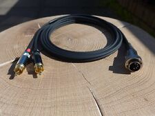 5 Pin Din To RCA/Phono Cable Interconnect For Naim Amplifier To Source 2m