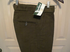 BARBOUR-A421 MOLESKIN  PANTS-MADE IN UK-NEW OLD STOCK-WAIST 32-UNFINISHED LEG