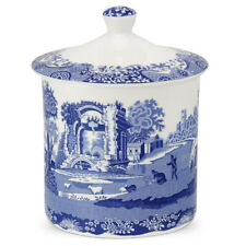 SPODE BLUE ITALIAN STORAGE JAR COOKIE JAR PORTMIRION GROUP 19CM