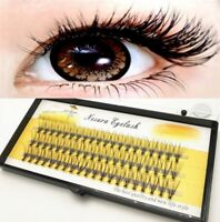 60 Mink All Size Individual Cluster Natural Long Eye Lashes Fake False Eyelashes