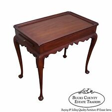 Solid Cherry Queen Anne Style Tea Table by Henkel Harris