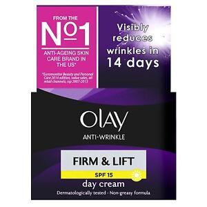 Olay Anti-Wrinkle Firm & Lift SPF 15 Anti-Ageing Day Cream Moisturiser - 50ml