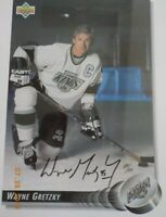Wayne Gretzky Kings Upper Deck Jumbo Card 8.5x11 Autographed W/JSA Certification