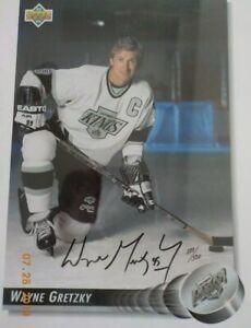 Wayne Gretzky Kings Upper Deck Jumbo Card 8.5x11 Autographed W/JSA Certification