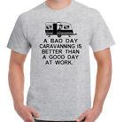 a Bad JOUR HOTELLERIE DE PLEIN AIR hommes Drôles Camping T-shirt auvent caravane