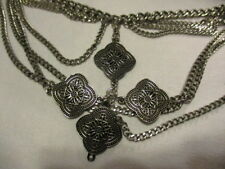 """MARK Rain of Chains Belt Burnished Silvertone Adjustable to Sit at Hip 36 1/2"""""""