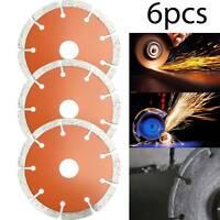 "6x Mini 4.5"" Angle Grinder Dry Diamond Cutting Discs Blade Concrete Stone Brick"
