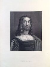 MARCO ANTONIO RAIMONDI retrato XIX siglo grabador italiano Bolonia
