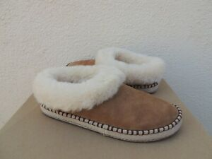 UGG WRIN CHESTNUT SUEDE/ SHEEPSKIN CUFF SLIPPERS, WOMEN US 7/ EUR 38 ~NIB