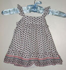 New BABY GAP Size 0-3 Months White Print Star Flutter Dress with Diaper Cover
