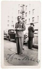 Thomas Mitchell Vintage Candid Photo Signed - Gone With The Wind Actor