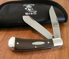 QUEEN New Limited Edition Bill Ruple 1 of 300 Buffalo Horn Trapper Knife/Knives