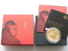 2015 British LUNARE PECORA £ 2 Due Pound Argento Proof ORO 1 OZ (ca. 28.35 g) MEDAGLIA BOX COA UK dorati