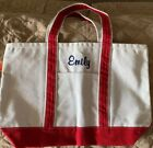 Things Remembered Boat Tote Medium Canvas Red Bag Emily