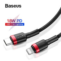 Baseus PD USB Type C Fast Charging Cable Apple iPhone 12 11 Pro Max XR XS 7 8