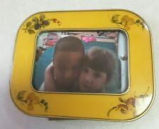 "Bucklers Inc. ENAMEL FLORAL desk Frame Crafted USA FIFTH AVENUE N.Y. 41/2""×3"