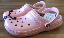 Crocs Classic Lined Slip-On Casual Clog Dual Comfort Melon, Pink Size M 9, W 11
