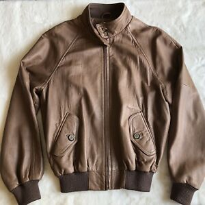 Abercrombie & Fitch Vintage Genuine Leather Men's Bomber Jacket Size Small