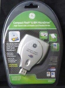 Ge HO97930 USB 2.0 Compact Flash I & II Microdrive Card Reader Plug and Play