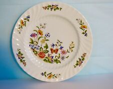 "Aynsley ""Cottage Garden"" English Fine Bone China 10.5"" Dinner Plate Butterflies"