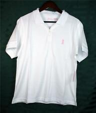 Breast Cancer Support Awareness Ladies Women Polo Golf Shirt Pink Ribbon Large