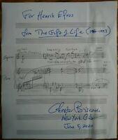Chester Biscardi KOMPONIST Autogramm original handgeschriebenes Notenblatt rar!