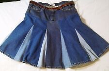 LEVIS STRAUS SIGNATURE DENIM SKIRT WOMEN'S SIZE 22W MEDIUM W/ FURLA BELT