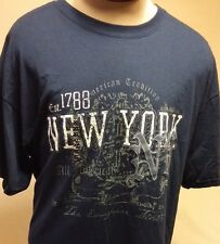 New York The Empire State American Tradition Est 1788 Blue T-Shirt  Size XL