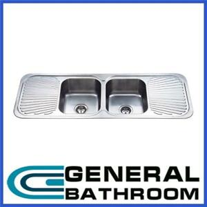 Stainless Steel 1380mm Double Bowl Double Drainer Kitchen Sink