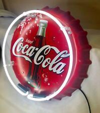 LED NEON LIGHT COCA COLA COKE BOTTLE CAP SODA DRINK PEPSI SEX METAL TIN SIGN