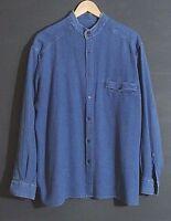 Mens Casual Button Down Shirt Blue Cotton POLO Design by Polo Button Down L