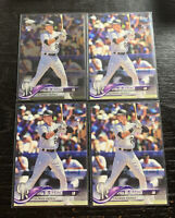 Ryan McMahon RC Lot(4) 2018 Topps Colorado Rockies Chrome(1) Flagship(3)