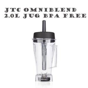 JTC OMNIBLEND 2.0L Two Litre Jug Pitcher Cup BPA Free Eastman Tritan Copolyester